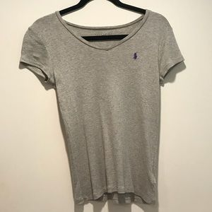 Form Fitting Polo V-Neck Top